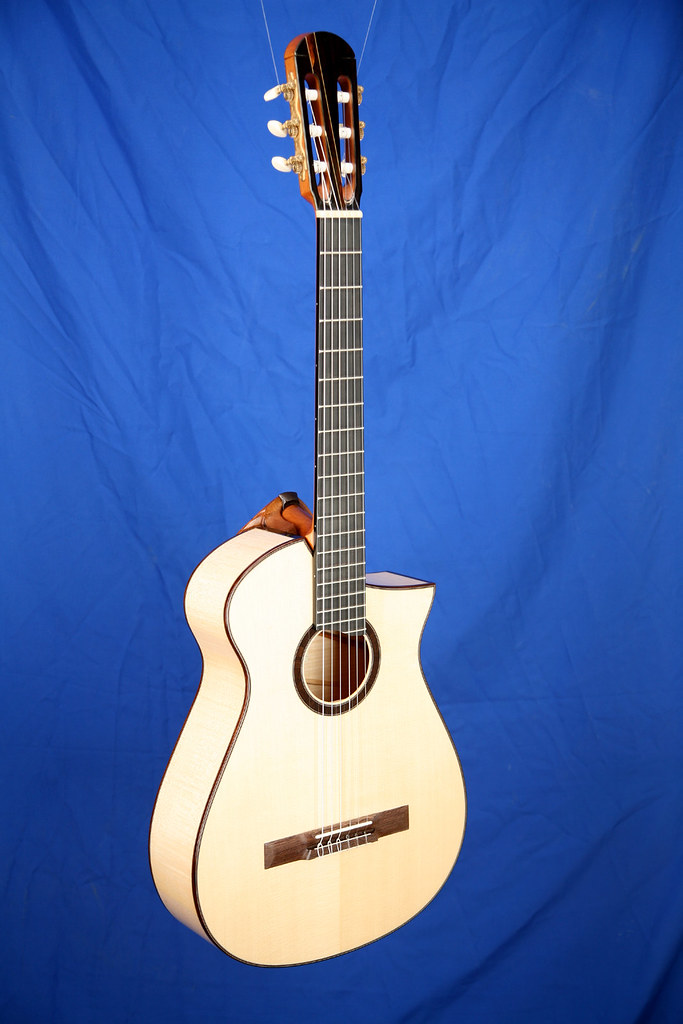 custom nylon strings guitar figured european maple sides a flickr. Black Bedroom Furniture Sets. Home Design Ideas