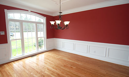 Red Dining Room Paint This Photo Is Of A Dining Room