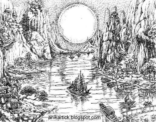 Moon Landing Drawing