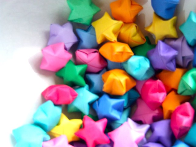 Origami Wishing Stars All The Colours Of The Rainbow I Ma Flickr