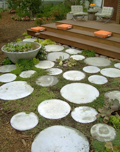 Love These Round Pavers They Remind Me Of Moons Image