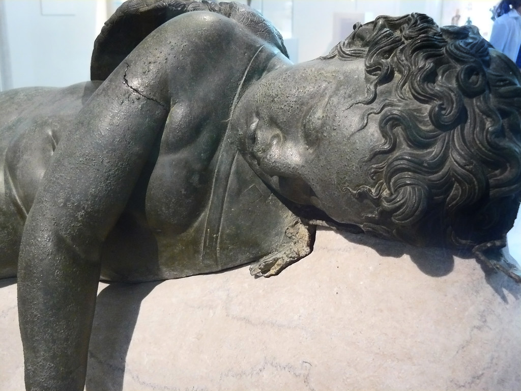 statue of eros sleeping 3rd century