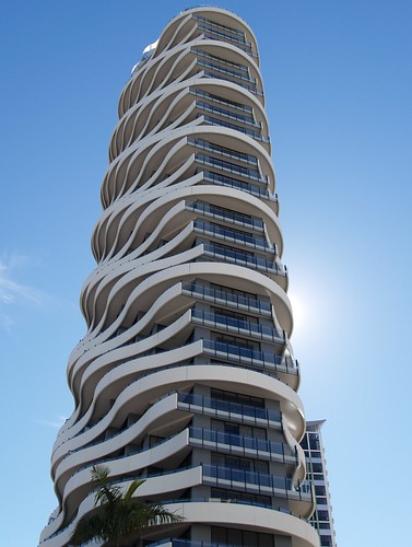 Wave building gold coast australia flickr photo for Coastal architecture design