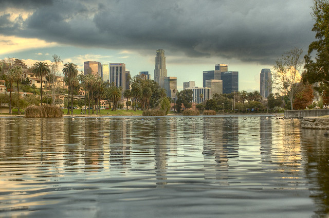 Downtown Los Angeles >> Echo Park, Los Angeles | HDR shot overlooking the water at E… | Flickr