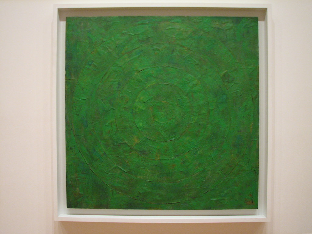 Jasper Johns Green Target (1955, MoMA)   Paintings by the ...