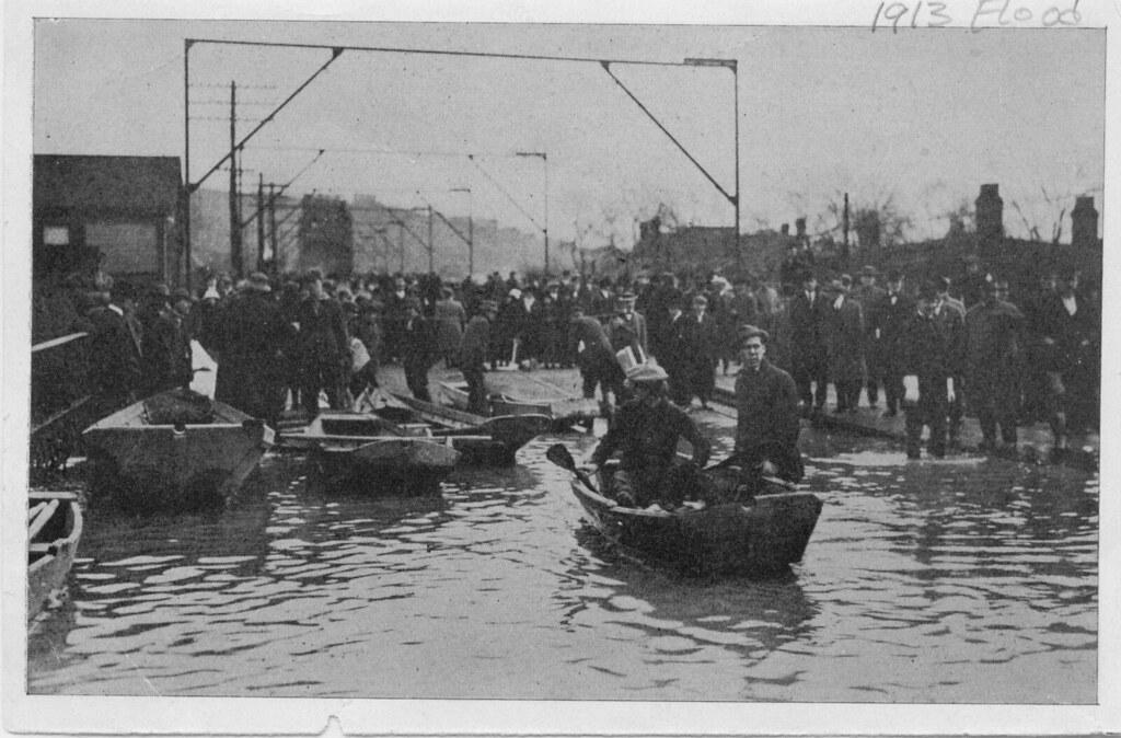 Flood Of 1913 Wheeling Island End Of Steel Bridge Flickr