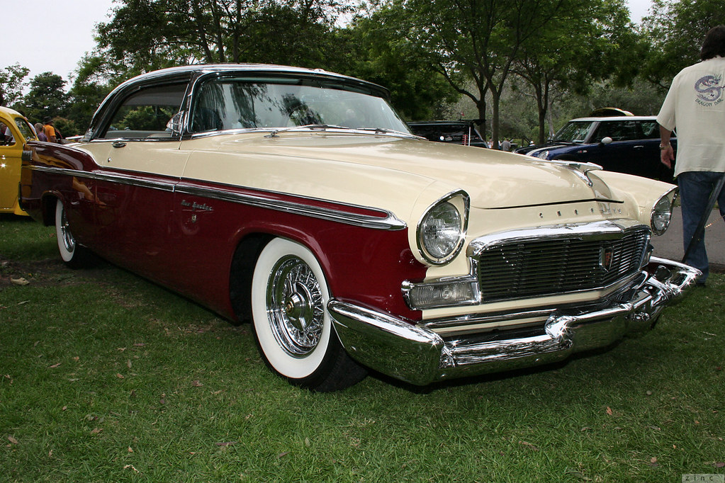 1956 chrysler new yorker st regis black yellow maroon. Black Bedroom Furniture Sets. Home Design Ideas