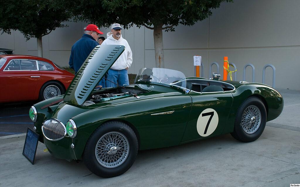 Coffee And Cars >> 1955 Austin Healey 100S race car - BRG - Ser no AHS3805 - … | Flickr