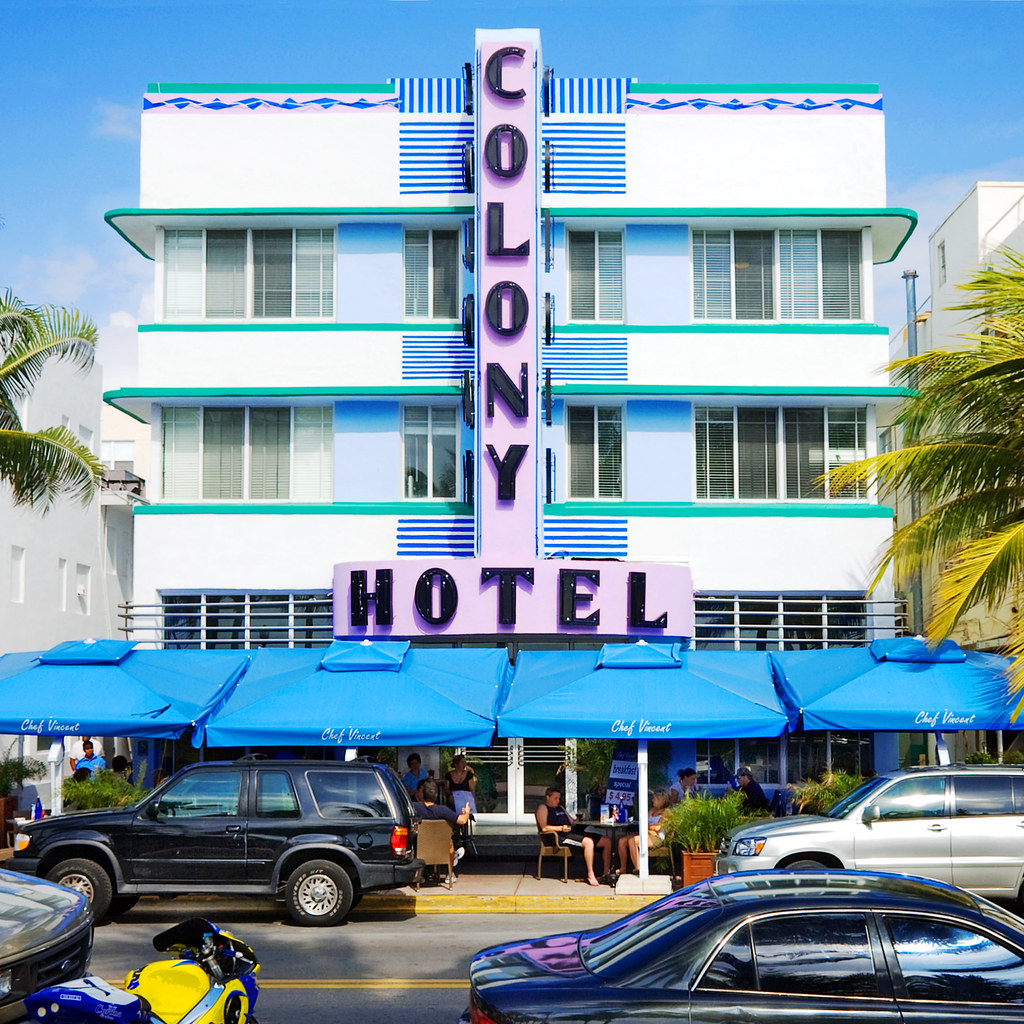 colony hotel 1939 736 ocean drive south beach miami b. Black Bedroom Furniture Sets. Home Design Ideas