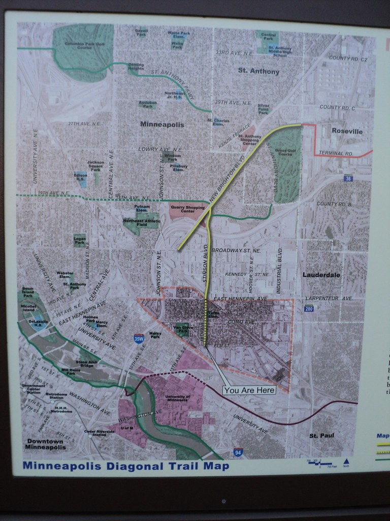 Minneapolis >> Minneapolis Diagonal Trail Map | edkohler | Flickr