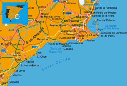 MAPS SPAIN COSTA CALIDA   Costa Calida spanish coast map   Flickr
