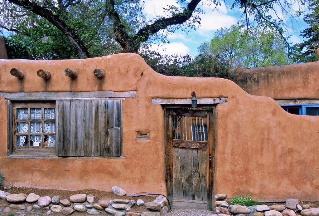 Adobe home canyon road delgado street santa fe new me for Adobe home builders