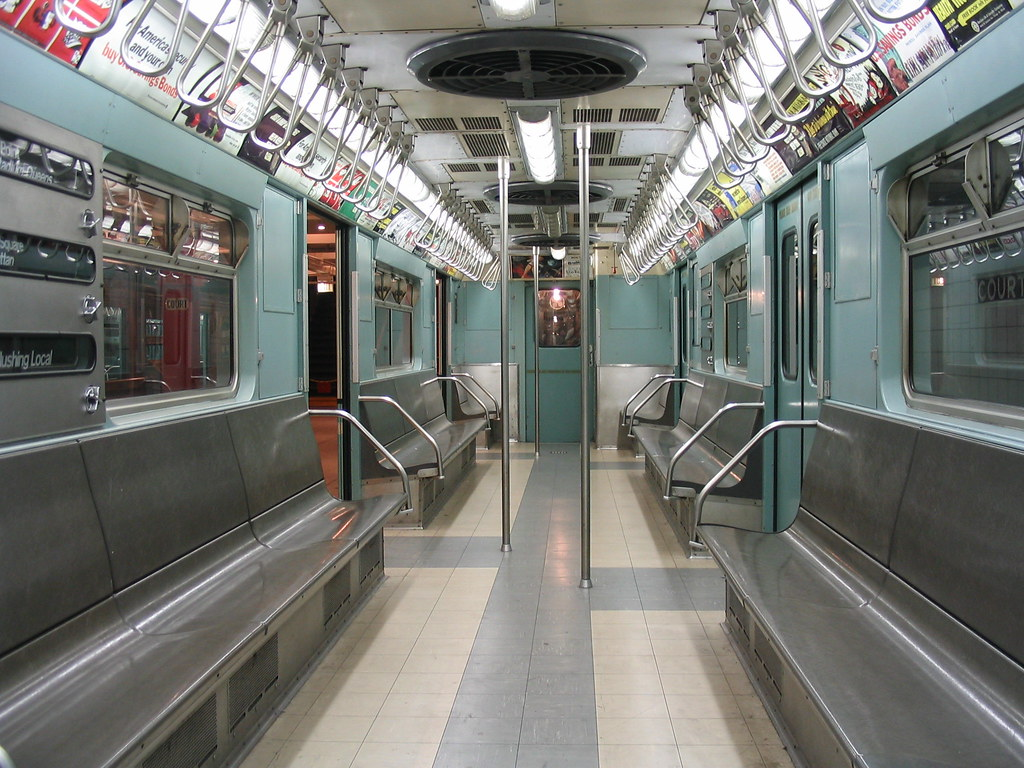 mid 20th century new york subway rail car dig that inter flickr. Black Bedroom Furniture Sets. Home Design Ideas