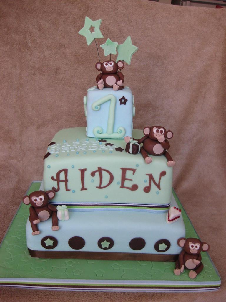 Monkey 1st birthday cake  www.customcakesbyjenz.ca Another ...