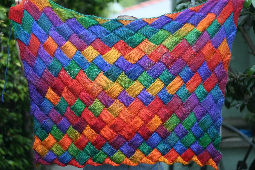 Entrelac Afghan Knitting Pattern : Entrelac blanket iwriteplays Flickr