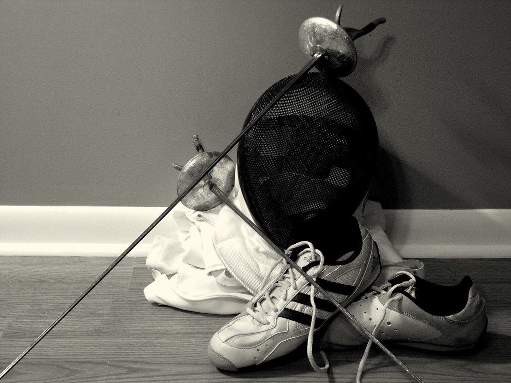Fencing Still Life Some Beat Up Fencing Gear Ct