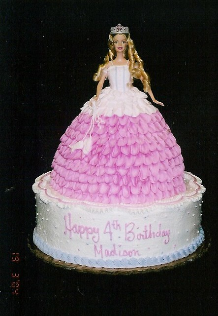 Ballerina Barbie The Doll Cake Is On A 12inch Double