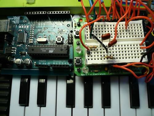 ArduinoSynth main & shield | by Collin Mel