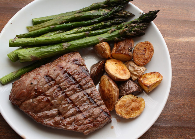 Grilled Steak with Roasted Potatoes and Asparagus | Explore ...