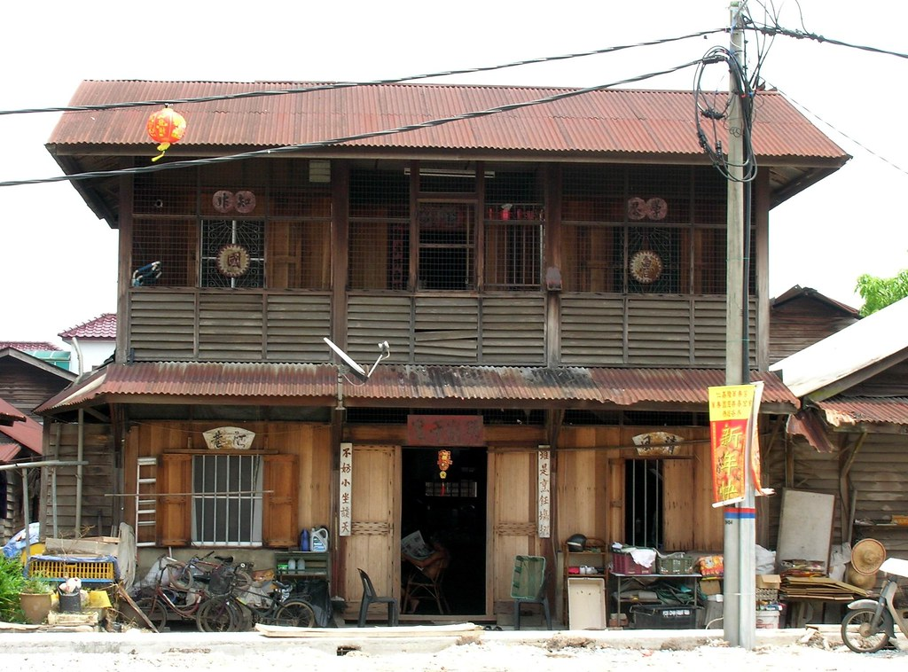 A chinese traditional house at Jenjarom,Selangor,Malaysia