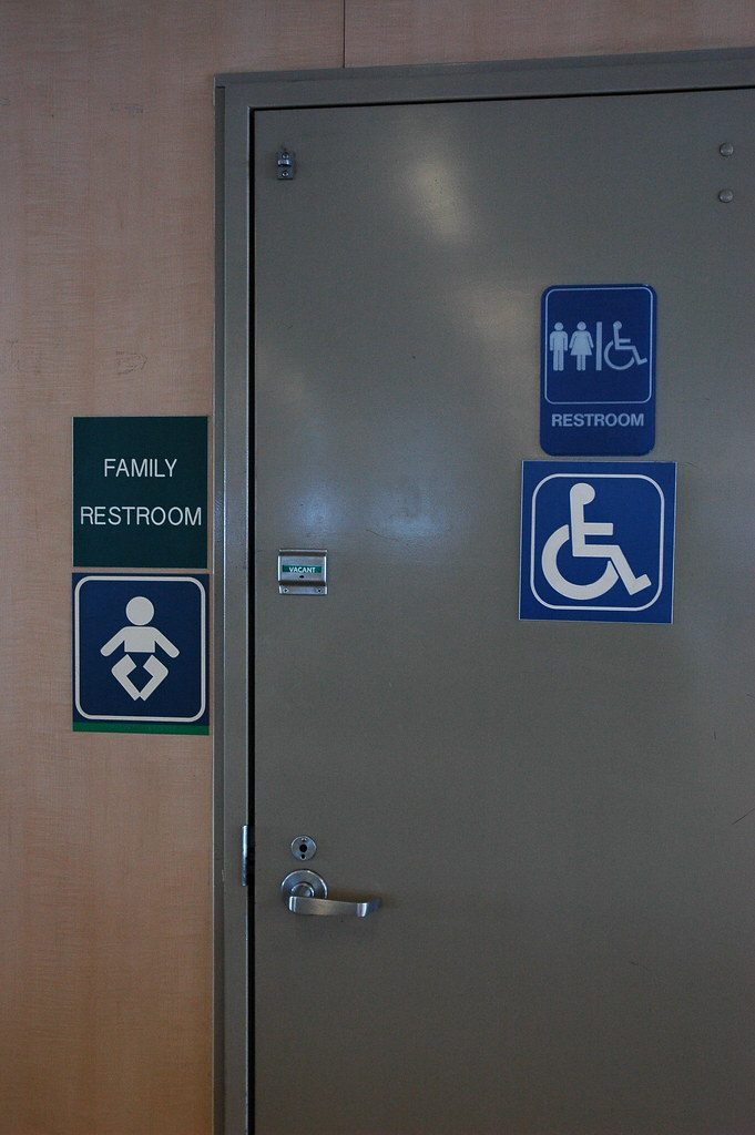 Family Restroom Signs Disabled Wheelchair User Vacant