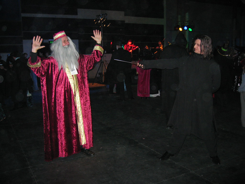 Dumbledore vs Snape | A recreation of the scene at one of ... Dumbledore Vs Snape