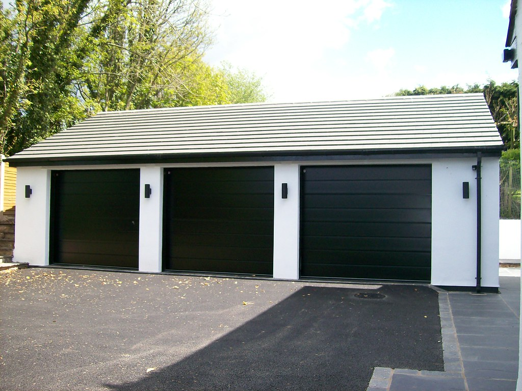 3 Black Carteck Sectional Garage Doors | 3 Black Carteck ...