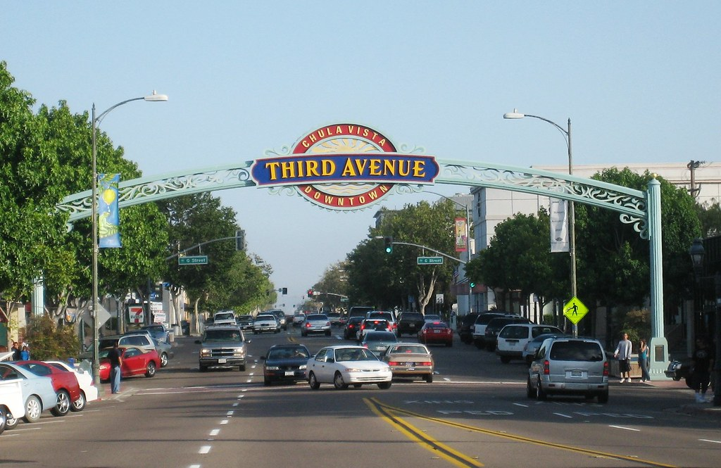 Chula Vista Entrance Arch Downtown Street Spanning Sign