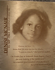 Denise McNair plaque | Flickr - Photo Sharing!