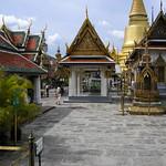 At the Grand Palace, Temple of the Emerald Bhuda, Bangkok.
