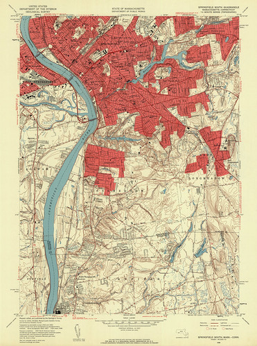 Springfield South Quadrangle 1958 - USGS Topographic Map 1:24,000 | by uconnlibrariesmagic