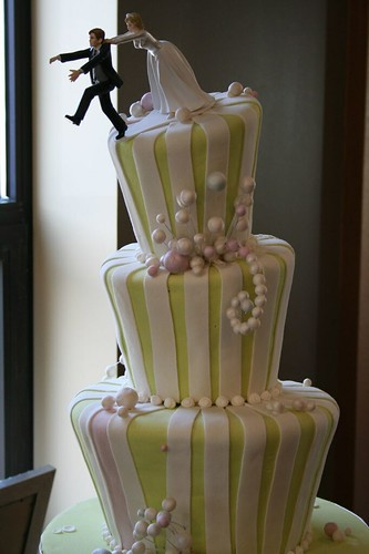 Whimsical Wedding Cake With Cake Pops Colors White Silver