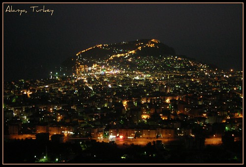 Alanya, Antalya,Turkey on the night... | by Ozgurmulazimoglu