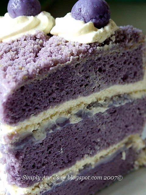 ... Macapuno Cake | Something I made for my birthday. Purple… | Flickr