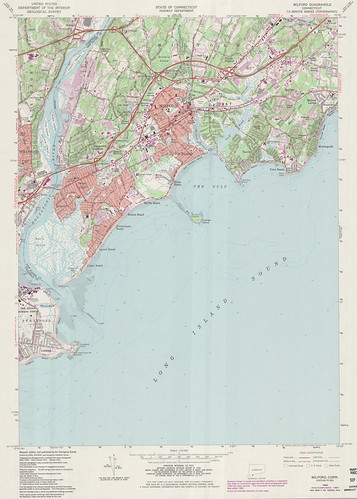 Milford Quadrangle 1984 - USGS Topographic Map 1:24,000 | by uconnlibrariesmagic