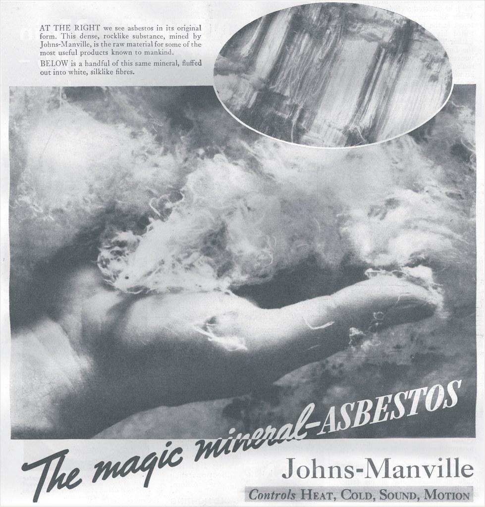 1930s Johns Manville asbestos ad
