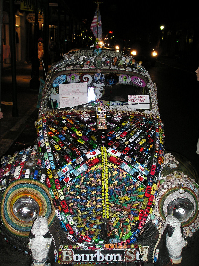 crazy car strangely decorated car in new orleans if you