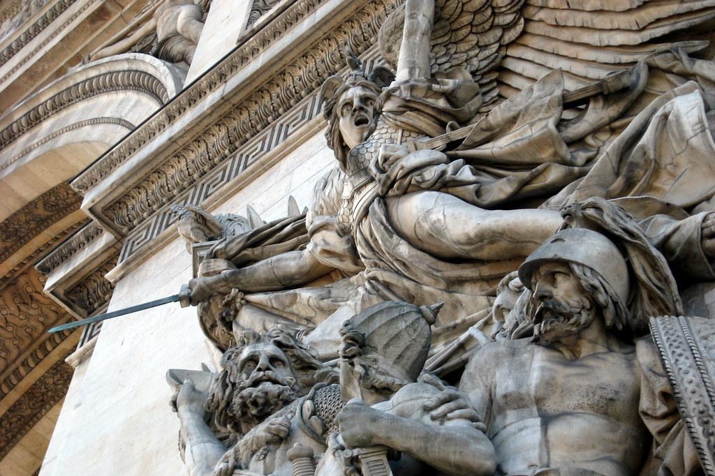Paris Arc De Triomphe De L 201 Toile La Marseillaise Flickr