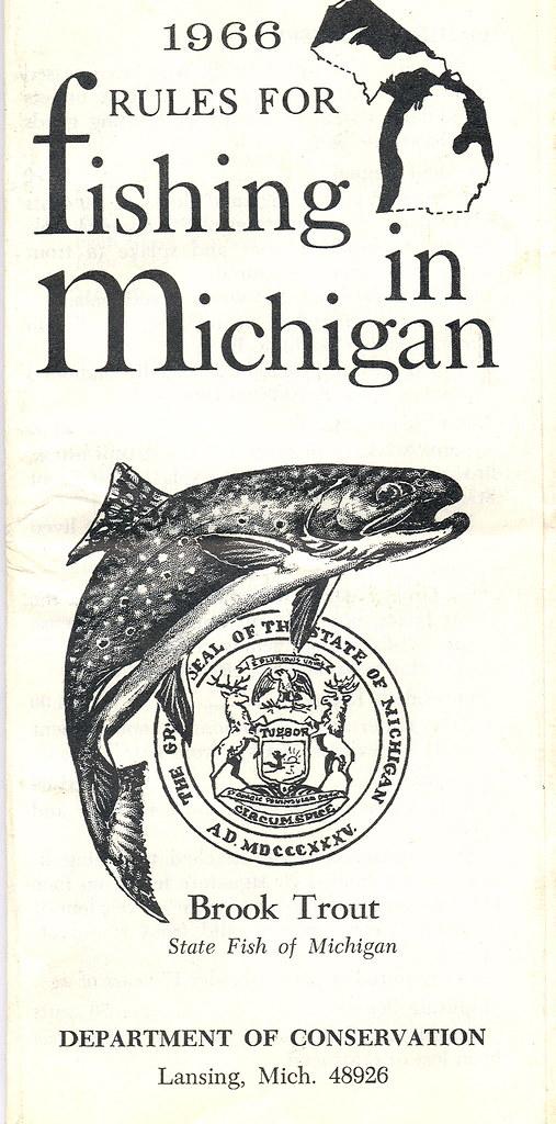 1966 michigan fishing license guide 1966 michigan for Michigan fishing license online