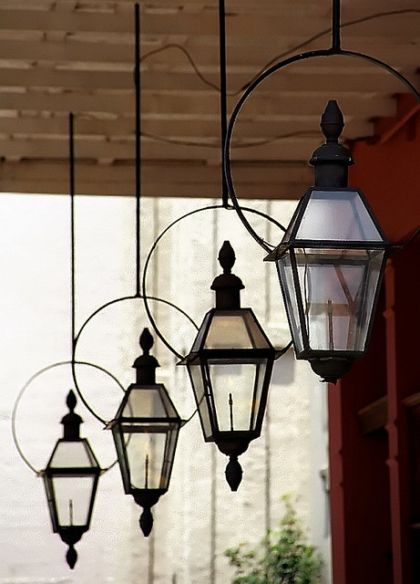 new orleans warehouse district gas lanterns flickr photo. Black Bedroom Furniture Sets. Home Design Ideas