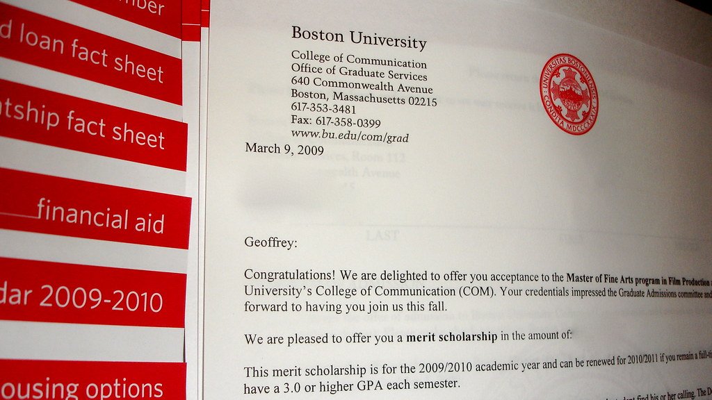 BU: Acceptance Letter | Hell yes! | Geoff Ross | Flickr