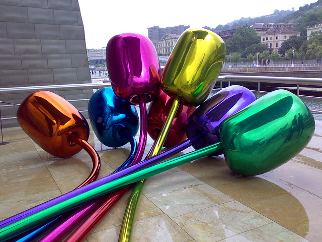 'Tulips' by Jeff Koons at the Guggenheim, Bilbao | Flickr ...