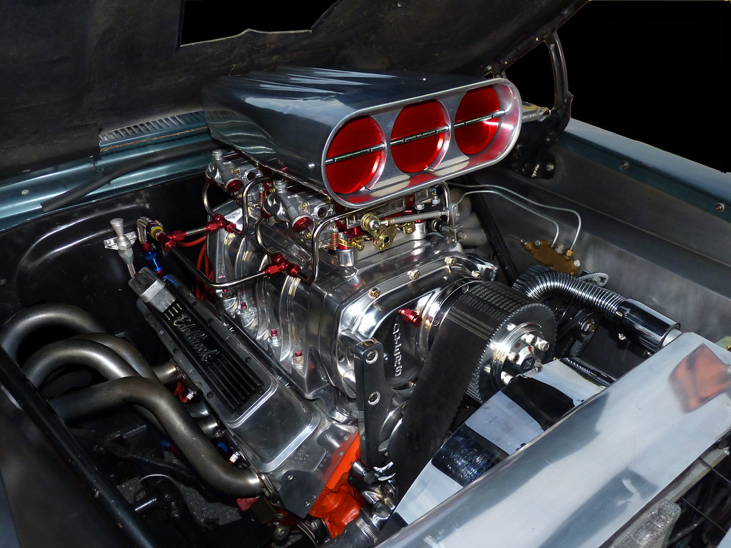 American Muscle Car >> One BAD Engine | The engine in a 1965 Nova at Morgantown's w… | Flickr