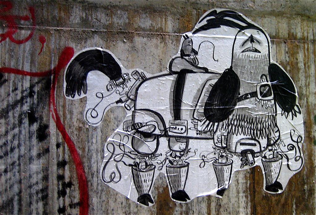 香港 Hong Kong street art - mechanical dog paste-up | Paste ...