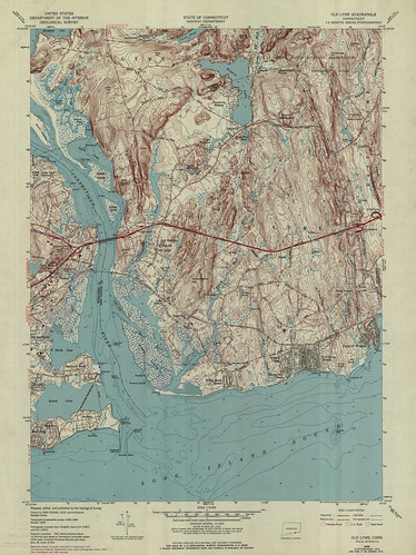 Old Lyme Quadrangle 1970 - USGS Topographic Map 1:24,000 | by uconnlibrariesmagic