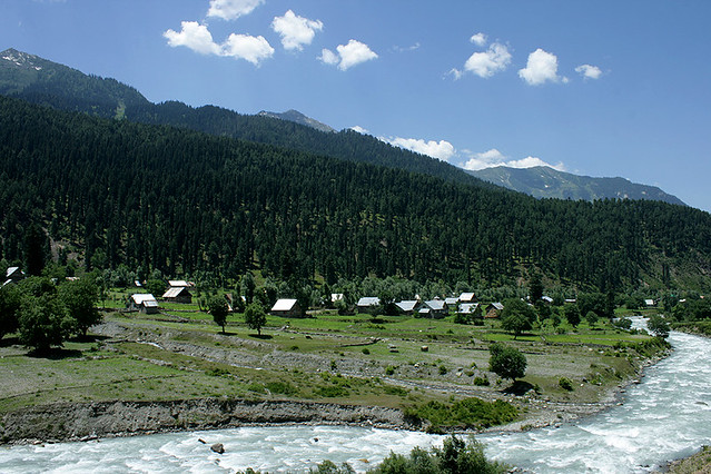 Kashmir Mountains Forests River And A Village Flickr Photo Sharing