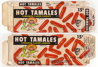 Vintage Hot Tamales box - Hot Tamales Kid doll offer - front and back - 1971 | by JasonLiebig