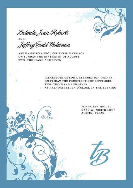 Wedding Invitation For An Austin Wedding Wedding Invitatio Flickr
