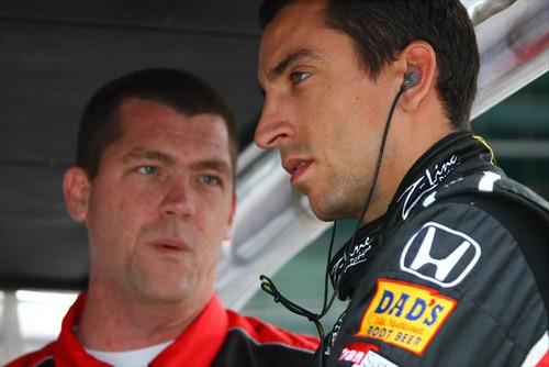 Justin Wilson looking focused | by IndyCar Series