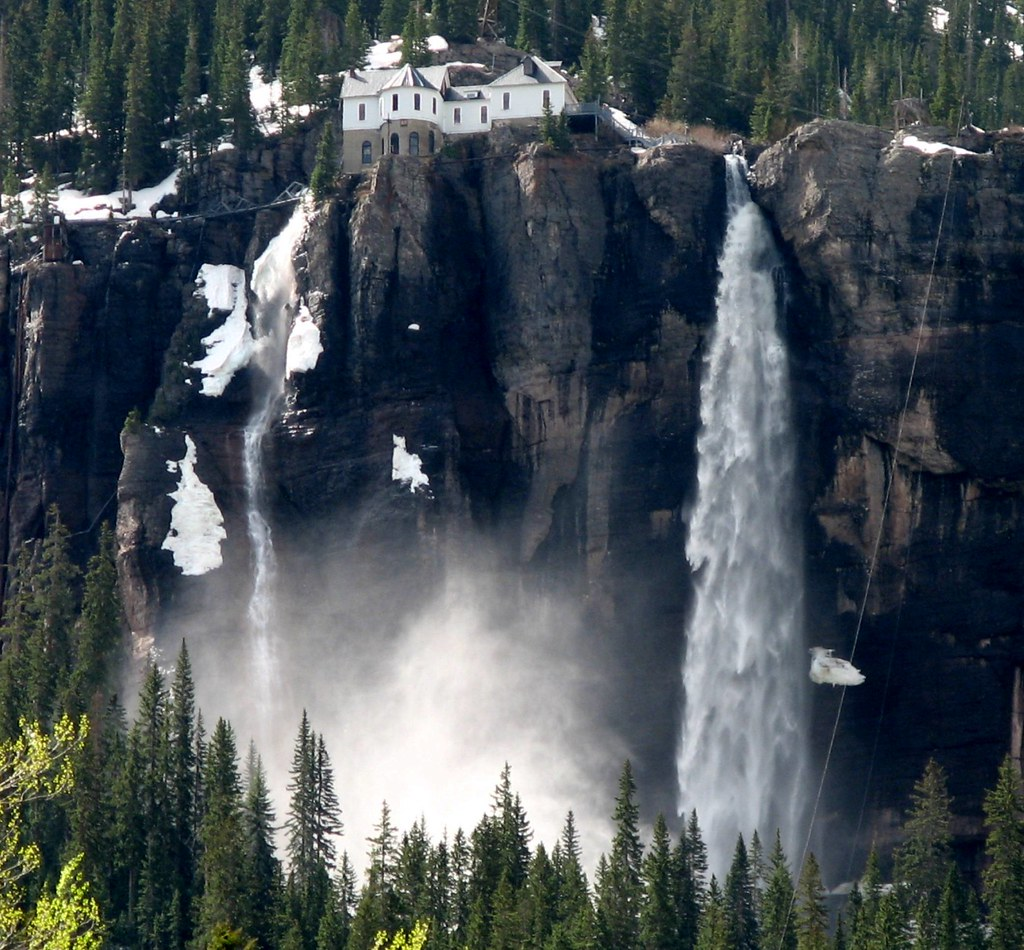 Colorado Images: Bridal Veil Falls Outside Of Telluride, Colorado